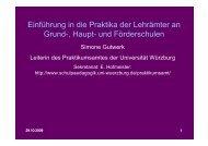 Einführung in die Praktika der Lehrämter an Grund-, Haupt- und ...