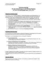 Orientierungshilfe für die Vorbereitung zur schriftlichen Prüfung im ...
