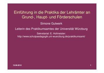 (Microsoft PowerPoint - WS12_Einführung in die Praktika Aushang)