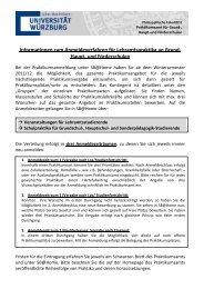 Informationen zum Anmeldeverfahren für Lehramtspraktika an ...