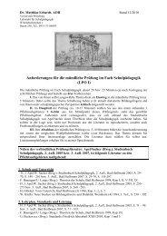 Dr. Matthias Erhardt (Stand 12 2010) - Lehrstuhl für Schulpädagogik ...