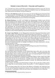 Globales Lernen in Österreich – Potenziale und ... - schulpartner.info