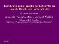 Einführung in die Praktika - Universität Würzburg