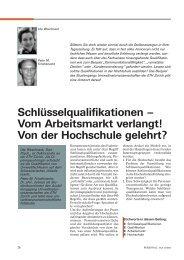Schlüsselqualifikationen – Vom Arbeitsmarkt verlangt! Von der ...