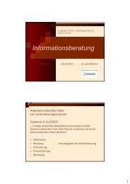 Informationsberatung - Schulpsychologie