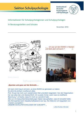Nachlese zur BUKO 2010 - Schulpsychologie