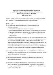 Landesverordnung über die Bestimmung der Mindestgröße von ...
