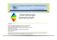 Internationale Gemeinschaft - Arme-Schulschwestern