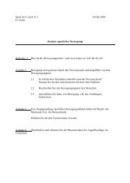 Analyse sportlicher Bewegung GK 12/1 - Schulsport NRW aktiv