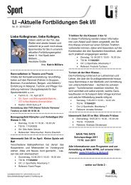 Das aktuelle Fortbildungsprogramm für die Sekundarstufe I und II ...