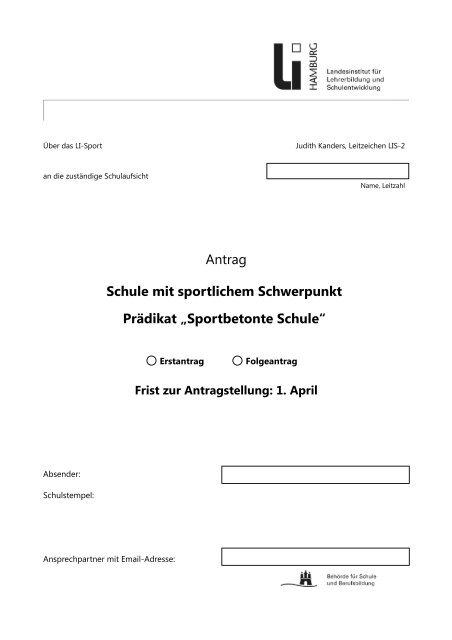 Sportbetonte Schule - Schulsport-Hamburg.de