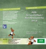06. September 2013: AOK Grundschul-Handballwoche - Schulsport ...