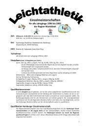 Ausschreibung u Qualifikationsnorm - Schulsport-Hamburg.de