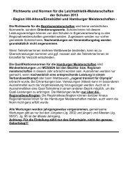 Richtwerte und Normen - Schulsport-Hamburg.de