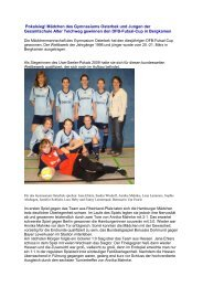 Bericht mit Bildern - Schulsport-Hamburg.de