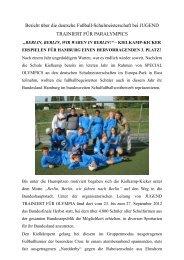 Bericht über die deutsche Fußball-Schulmeisterschaft bei JUGEND ...