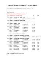 3. Hamburger Schulmeisterschaft beim 13. Isecup am 28.9.2012