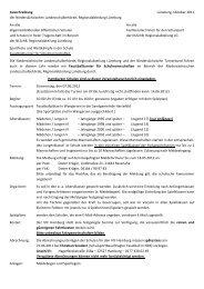 Ausschreibung Lüneburg, Oktober 2011 der Niedersächsischen ...