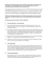 Richtlinien des Kultusministeriums für die Förderung des Baus von ...