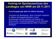 Studie zu Bewegung, Spiel und Sport im Ganztag ... - Schulsport-NRW