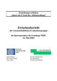 Zwischenbericht der Wissenschaftlichen ... - Schulsport-NRW