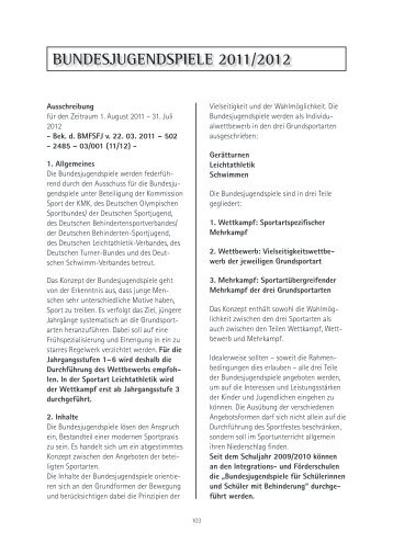BunDeSjuGenDSpiele 2011/2012 - Schulsport