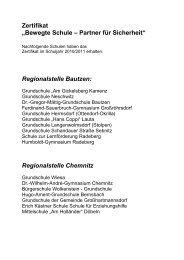 """Zertifikat """"Bewegte Schule – Partner für Sicherheit ... - Schulsport"""