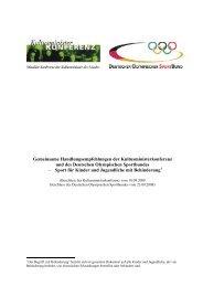 Sport für Kinder und Jugendliche mit Behinderung - Schulsport