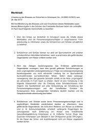 Merkblatt - Schulsport