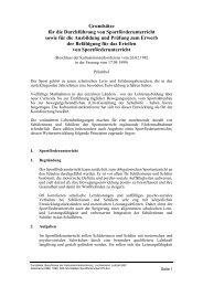 Grundsätze für die Durchführung von Sportförderunterricht sowie für ...