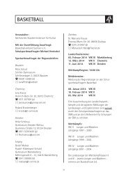 BASKETBALL - Schulsport - Freistaat Sachsen
