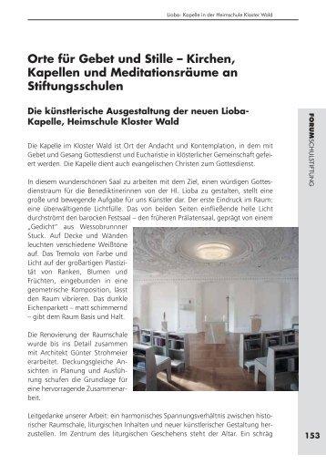 Orte Für Gebet Und Stille âu20acu201c Kirchen, Kapellen Und Meditationsräume .