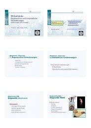 Vorlesung (PDF) - Schulthess Klinik