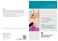 Einladung zum Physiotherapie-Symposium - Schulthess Klinik
