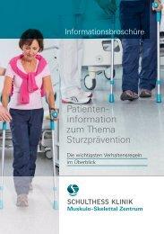 Flyer (PDF) - Schulthess Klinik