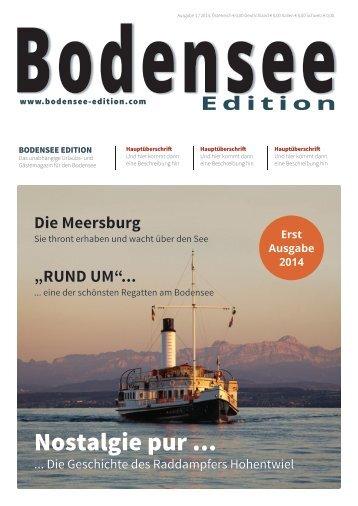 Bodensee Edition - Ausgabe 1 2014