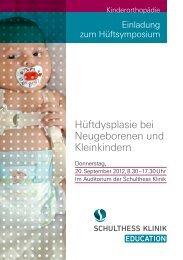 Hüftdysplasie bei Neugeborenen und Kleinkindern - Schulthess Klinik