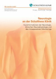 Neurologie an der Schulthess Klinik
