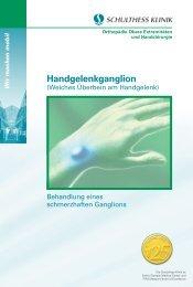 Handgelenkganglion - Schulthess Klinik
