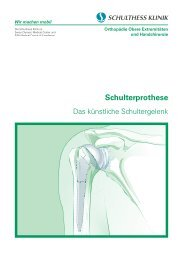 Broschüre (PDF) - Schulthess Klinik