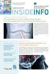 InsideInfo September 2012 (PDF) - Schulthess Klinik