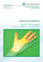 Carpal-Tunnel-Syndrom - Schulthess Klinik