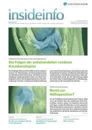 InsideInfo September 2011 - Schulthess Klinik