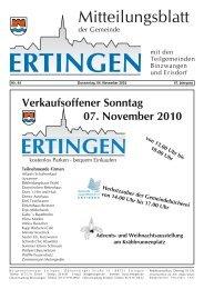Verkaufsoffener Sonntag 07. November 2010 - Ertingen