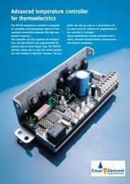 Optional TEC-Controller for peltier heat sink - Schulz Electronic GmbH