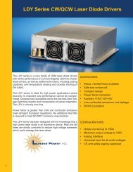 LDY Series CW/QCW Laser Diode Drivers - Schulz Electronic GmbH
