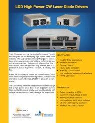 LDD High Power CW Laser Diode Drivers - Schulz Electronic GmbH