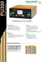 PU300-series 216 to 300W - Schulz Electronic GmbH