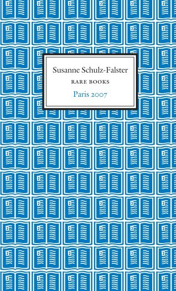 paris 07 - Schulz-Falster Rare Books