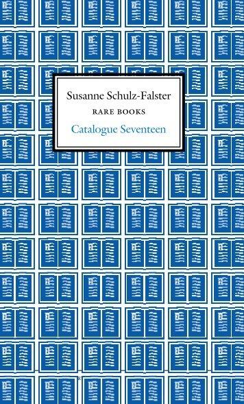Catalogue Number 17 - Schulz-Falster Rare Books